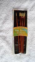 4 Pc Hog Bristle Oil Brush Set Free Shipping
