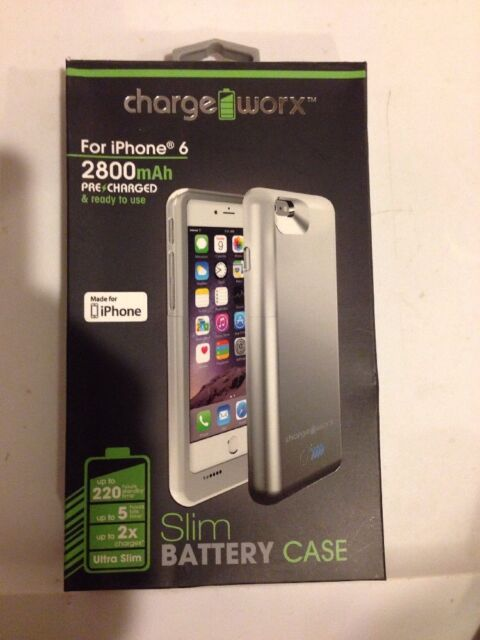 online retailer 2770a 4847f Chargeworx Cx7002sl 2800 mAh Battery Case for iPhone 6 Silver