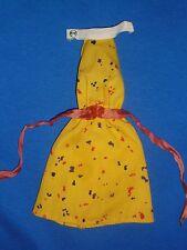 Superstar Era My First Barbie ~ Yellow Print Halter Dress ~ 1980 ~ Doll not Inc