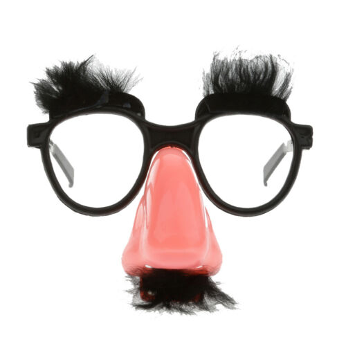 Fluffy Mustache with Nose Eyes Glasses Fancy Dress Costume Party Funny Joke