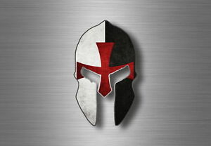 Autocollant-sticker-voiture-moto-spartan-drapeau-templier-casque-guerrier
