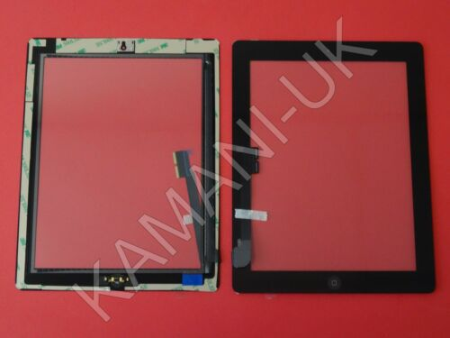 For iPad 3 /& 4 Touch Screen Digitizer Glass Replacement Black With Home Button