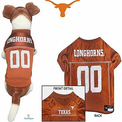 TEXAS LONGHORNS DOG JERSEY-UNIVERSITY OF TEXAS DOG SHIRT FOOTBALL JERSEY