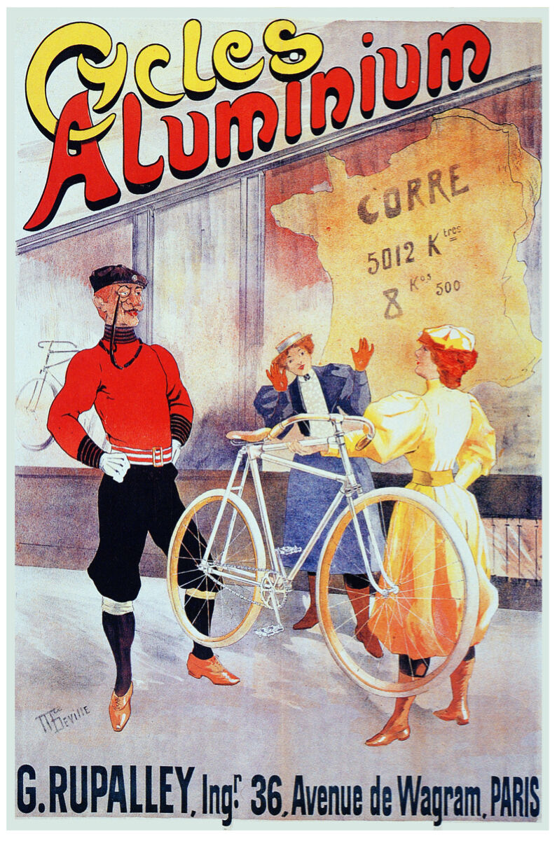 French Vintage Poster.Bicycle.Home Wall art Decor House Interior design.769i