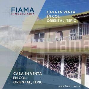 CASA GRANDE EN VENTA EN COL. ORIENTAL, CERCA DE FORUM TEPIC (RS)