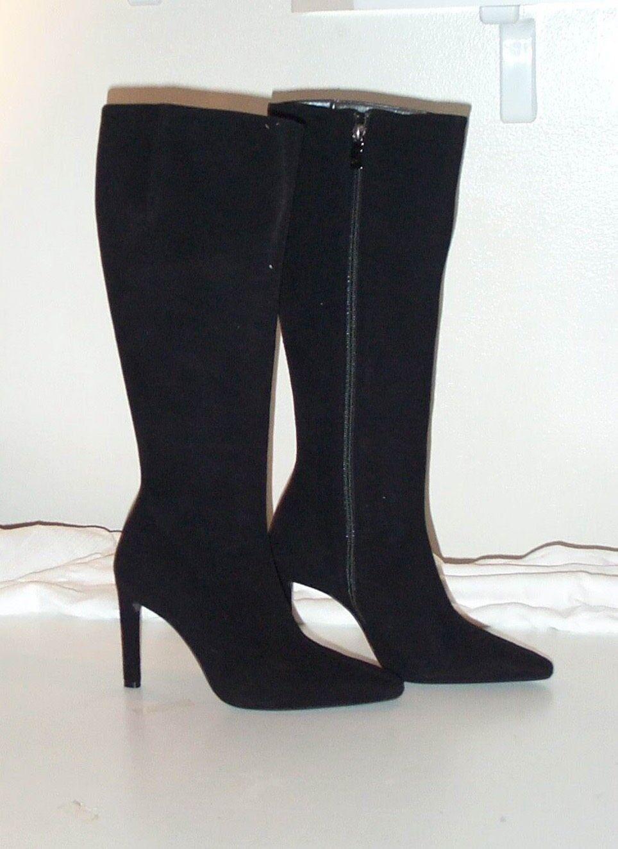 shopping online e negozio di moda Stivali GENNY, camoscio camoscio camoscio nero, tg. 36,5 NUOVO  prodotti creativi