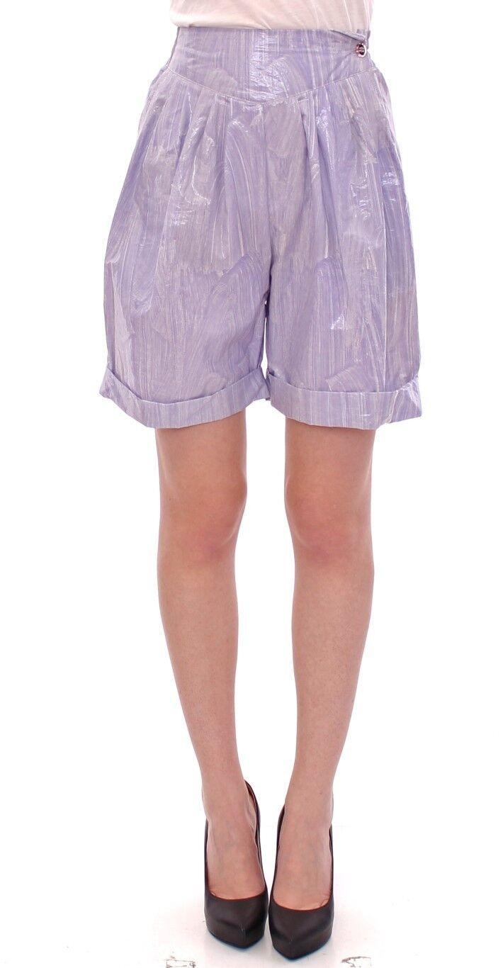 NWT Licia Florio Purple Above-Knee Wrap Shorts Pants IT42   US8   EU38   M
