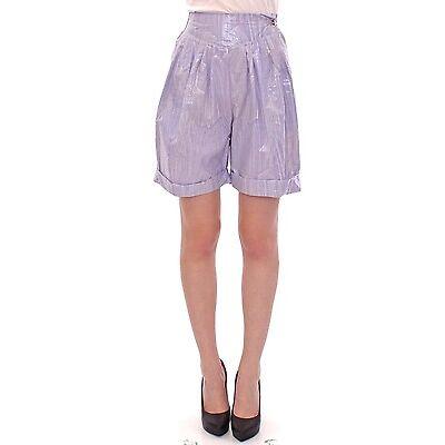 NWT $400 Licia Florio Purple Above-Knee Wrap Shorts IT44 / US10 / EU40 / L
