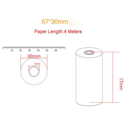 Rotolo di carta termica 5PCS 57x30mm per stampante POS mobile POS 58mm