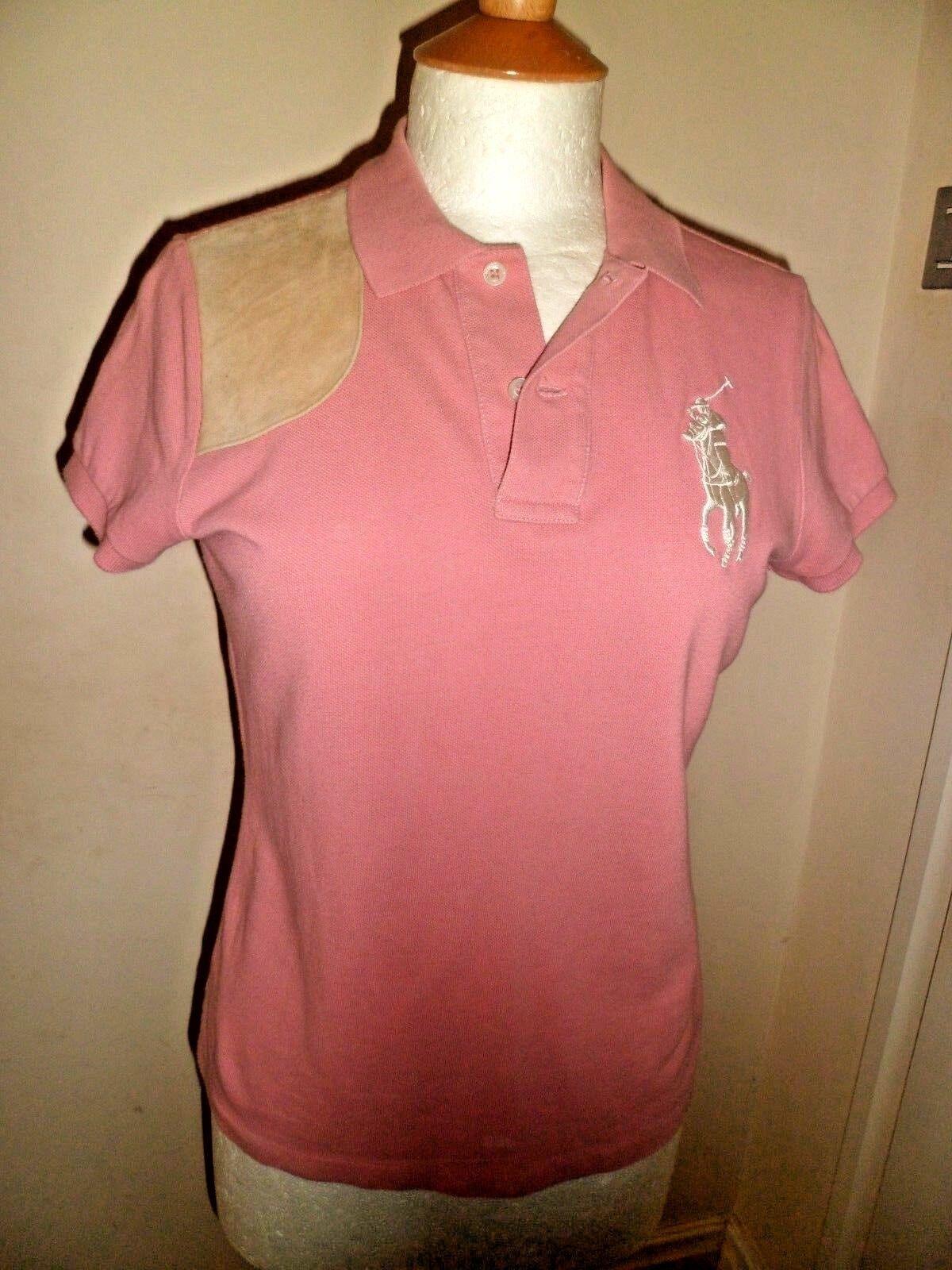 Ralph Lauren Sport 100% Cotton Short sleeve Polo Shirt in Salmon Pink Medium