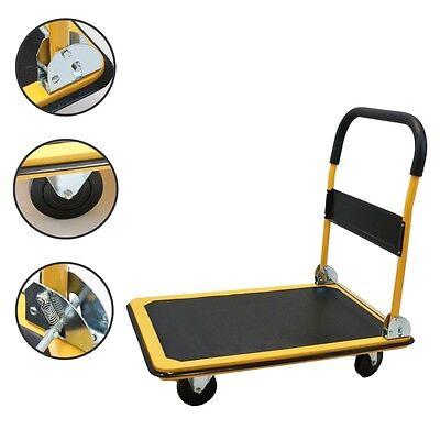 660 LBS Large Capacity Moving Hand Truck Push Platform Cart Warehouse Groceries