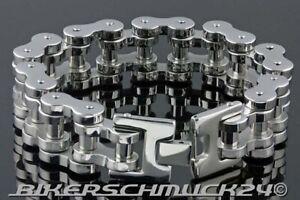 Motorradkette-Armband-in-Mammut-Groesse-L-extra-schwer-Edelstahl-ca-1-8-cm-breit