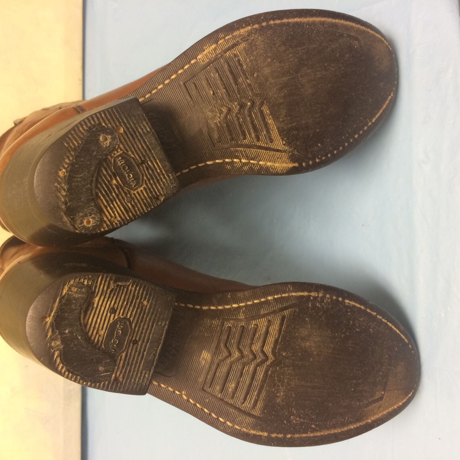 TEXAS Brand Brown Pelle Tall Heel Western Cowboy Stivali Style Size 6.5 M Style Stivali 8201 ea25a6