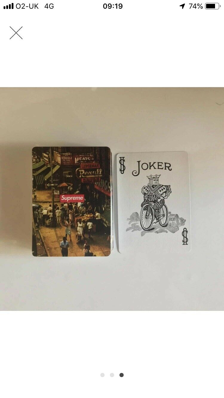 Supreme Bicycle Street Scene Playing Cards FW11   Great Condition   Collectibles