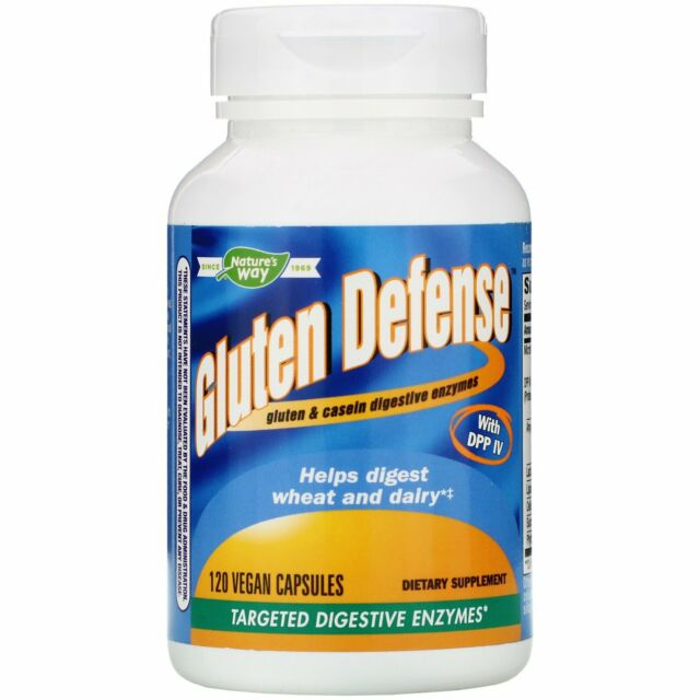 (NYSB) Nature's Way, Gluten Defense with DPP IV, 120 Vegan Capsules