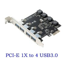 HEASEN 4 Port PCI-E to USB 3.0 HUB PCI Express Expansion Card Adapter 5 Gbps Speed for Desktop Computer Components