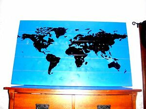 Details about LICENSE PLATE WORLD MAP!! Continents Made Out Of Genuine on map white on white art, map made of buttons, map of united states license, map made of tools, map made of paper, map made of flowers, map wall decor metal art, map made of books,
