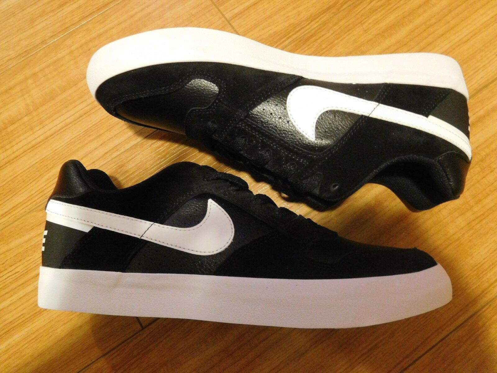 Rare Collection Nike SB Delta Force Vulcan Black White Size Size Size 10 62d248