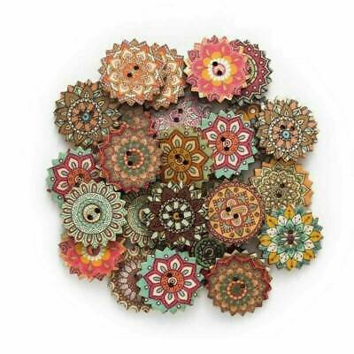 20//25mm 100x Natural Colorful Shell Round Buttons 2 Holes For DIY Sewing Craft