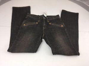 elasticizzati Dark Ralph a dritta gamba jeans Jeans taglia Brown Nwt Wash Lauren 6 twqqYHa