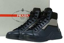 NEW PRADA MEN'S LEATHER LACE-UP ANKLE BOOTS HIGH TOP SNEAKERS SHOES 9/US 10