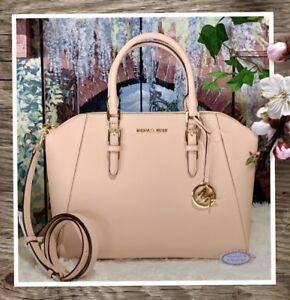 Details zu Nwt Michael Kors Ciara Groß Reißverschluss Handtasche in Ballet Pink Leder $ 398