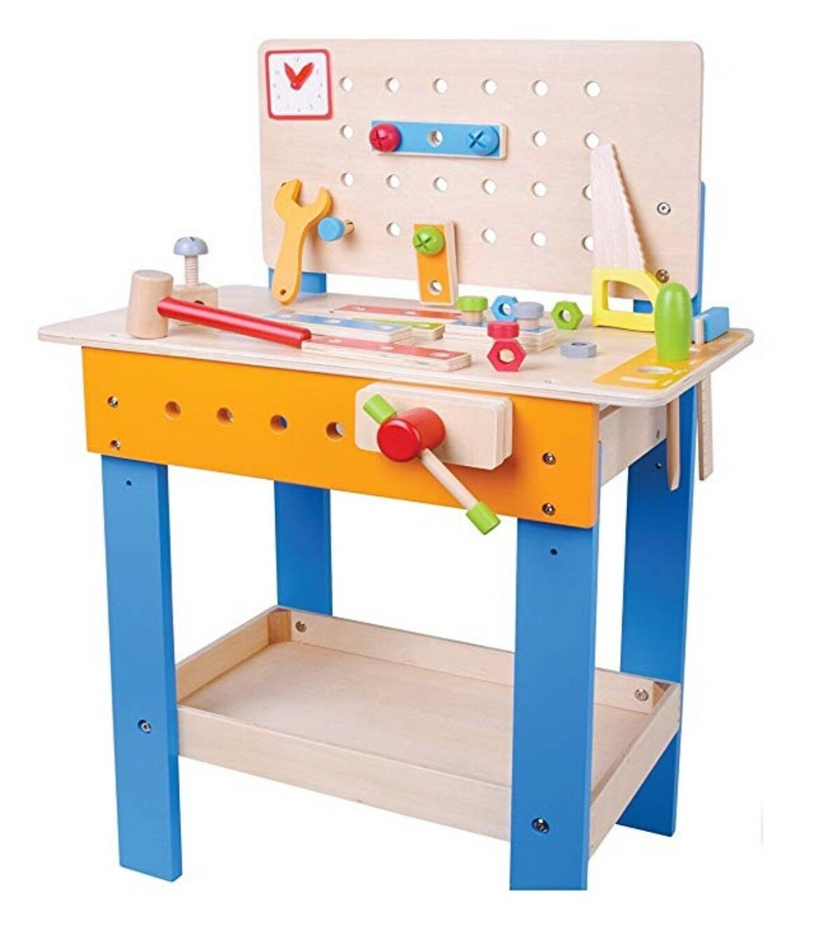 Jumini Wooden Wooden Wooden Workbench With Tools And Accesories 28Pcs NEW 5f0cc7