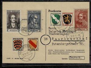 Alibes Franz. Zone MiNr 1-4 et 11 - 13 sur carte de collection-afficher le titre d`origine jgjdpiX0-07152233-869762375