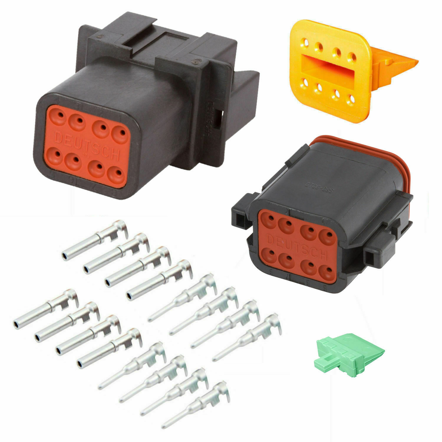 """16 AWG Assembled Deutsch 4 Pin waterproof connector 6/"""" wire for Engine Gearbox"""