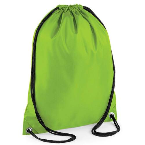 x10 Lime Green Drawstring Gym Sports School PE Bag Bulk Buy Job Lot