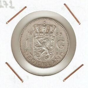 HOLANDA-NETHERLANDS-1-GULDEN-1955-silver