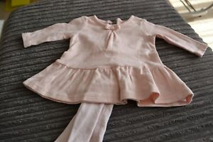 10604df97 Baby Girls Next Pink Dress with heart design and Tights Size Upto 1 ...