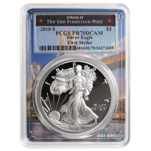 2018-S-Proof-1-American-Silver-Eagle-PCGS-PR70DCAM-First-Strike-San-Francisco-F