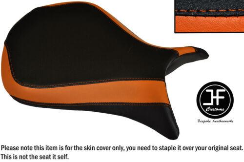 DESGN 3 BLACK ORANGE VINYL CUSTOM FOR KAWASAKI NINJA ZX6R 07-08 FRONT SEAT COVER