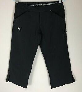 Under-Armour-Black-Womens-Size-4-Capri-Performance-Shorts-Inseam-19-034