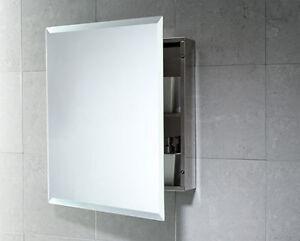 Specchio contenitore bagno con anta reversibile acciaio inox