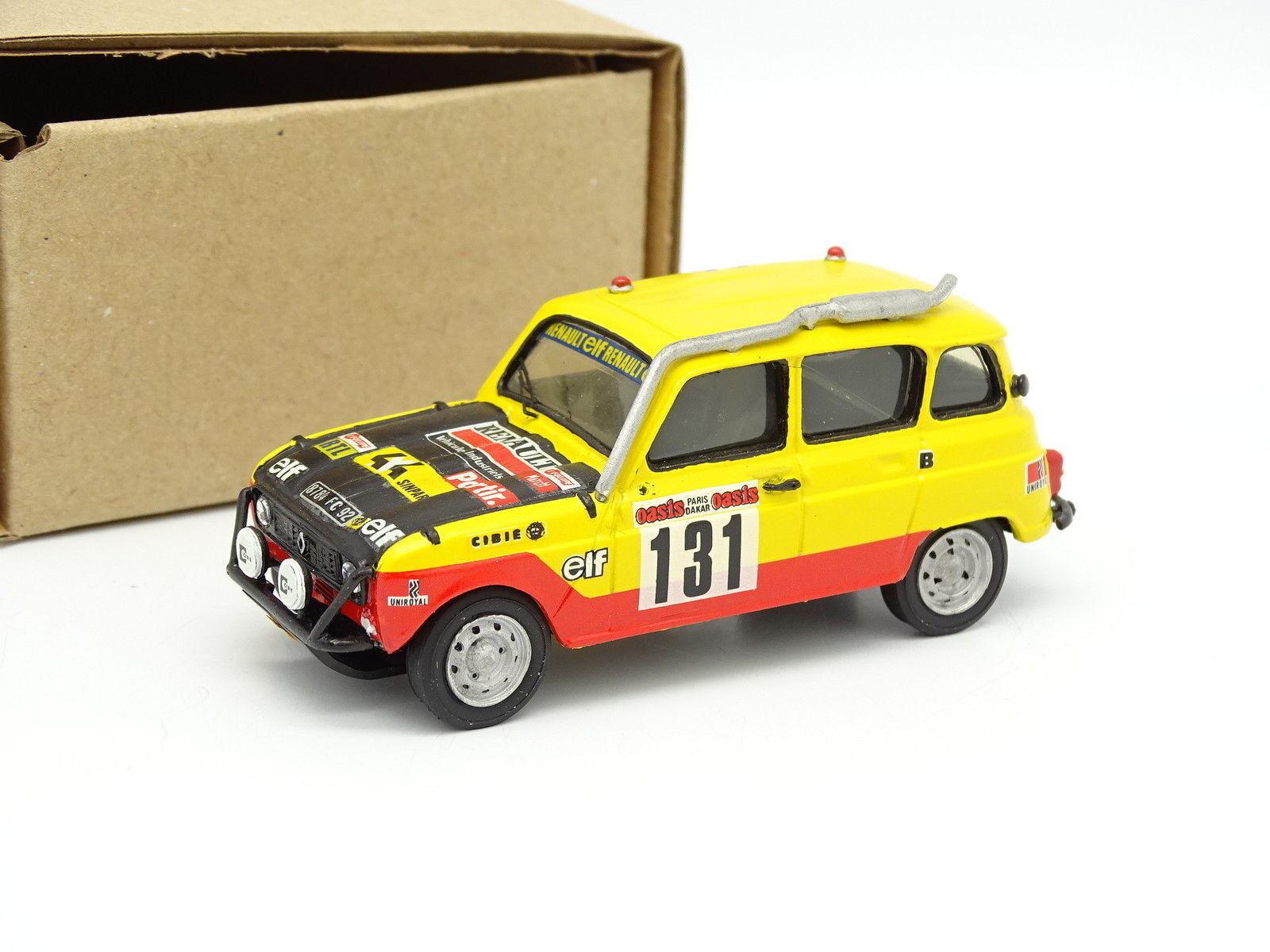 Mini Racing Kit Monté 1 43 - Renault 4 4L 4X4 Sinpar Paris Dakar 1979 Marreau