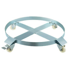 Swivel Drum Dolly 30 Gallon With 4 Caster Wheels Easy Moving Caster Cross Straps