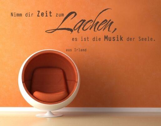 Wandtattoo Wohnzimmer Sprüche Spruch Zitate Schlafzimmer Zeit lachen wal096 Flur