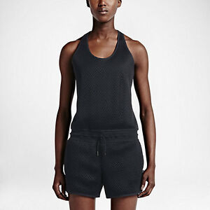 Nike NikeCourt Romper Women's Size Small- Black/ Black Heather