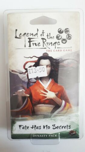 sealed Fate Has No Secrets dynasty pack LEGEND OF THE FIVE RINGS Card Game