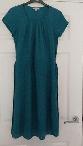Kew-159-Ladies-Green-Pebbles-Pattern-Belted-Dress-UK-Size-12