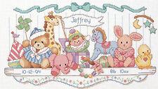 Cross Stitch Kit ~ Dimensions Stuffed Toy Shelf Baby Birth Record #3729