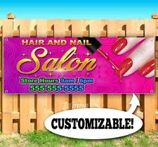 Hair And Nail Salon Custom Advertising Vinyl Banner Flag Sign Many Sizes Barber