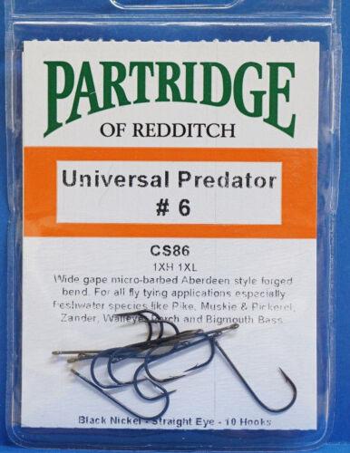 Partridge UNIVERSAL PREDATOR black nickel 10 Haken CS86 #6