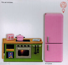 Lundby 60.2078 Smaland Küchenmöbel Herd Kühlschrank 1:18