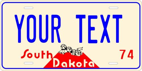 South Dakota 1974 Personalized Custom License Plate Car Motorcycle Bike
