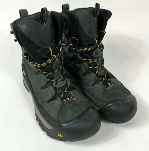 KEEN-1272-Mens-Summit-County-Waterproof-Insulated-Boots-Sz-13-Olive-Green