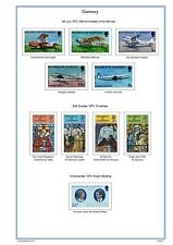 Guernsey & Alderney 2016 Colour Illustrated Stamp Album Pages on CD (289 pages).