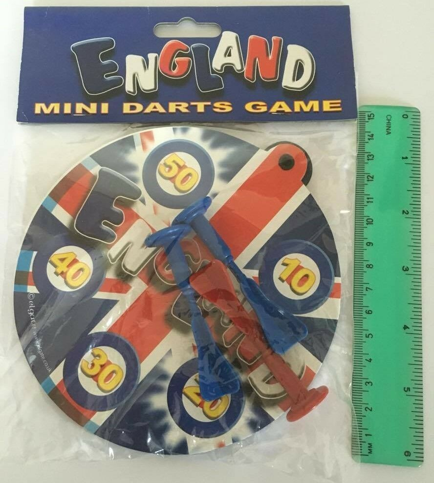England Mini Darts Game Board Dart Dartboard Magnetic Gift Filler